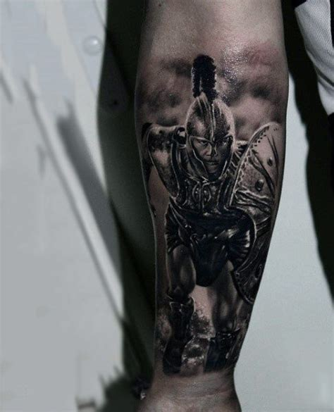 warrior tattoo designs for men 100 warrior tattoos for battle ready design ideas