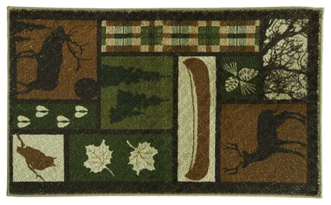 Rustic Bathroom Rugs Dimensions Large Woods Green Bath Rug Rustic Bath Mats By Bacova Guild