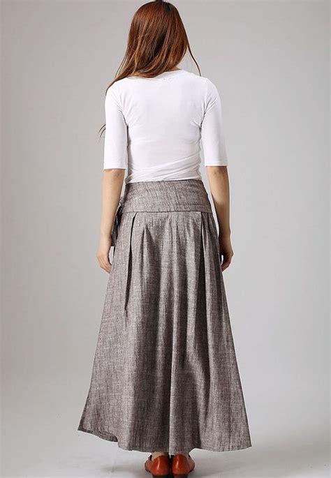 Olla Maxi Skirt wrap skirt boho skirt linen skirt maxi skirt