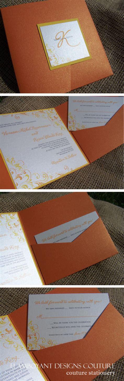 citrus themed wedding invitations citrus theme pocket fold wedding invitations