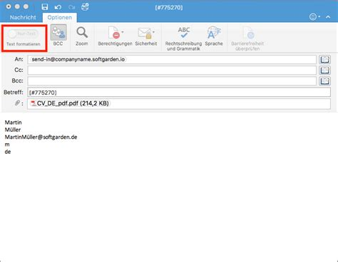 Bewerbung Kennziffer In Betreff Bewerbungen Per E Mail An Das System Schicken Happy