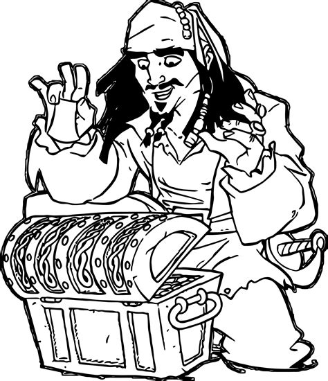 coloring pages disney pirates caribbean pirates of the caribbean man character jack sparrow