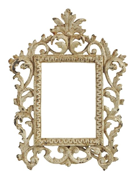 vintage shabby chic picture frames vintage shabby chic iron picture frame chairish