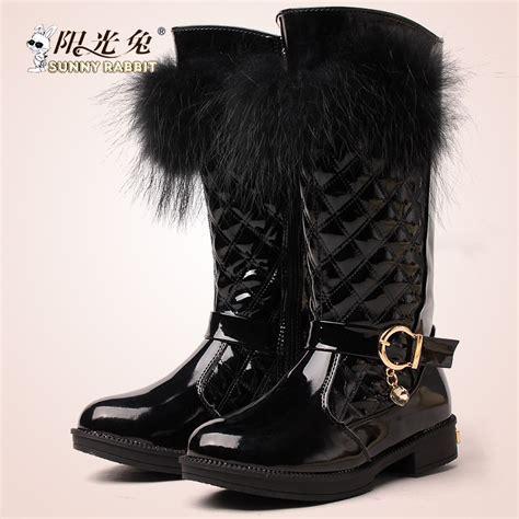 Sepatu Boot Musim Salju musim dingin kecil besar anak gadis 3 13 sepatu bot