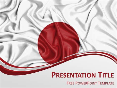 Japan Flag Powerpoint Template Presentationgo Com Japanese Powerpoint Template
