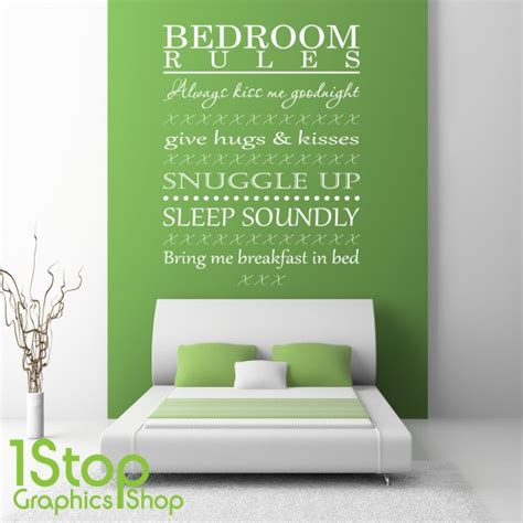 bedroom quote wall stickers bedroom wall sticker quote bedroom wall