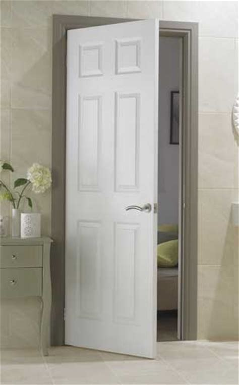 White Paneled Interior Doors by 6 Panel Textured White Primed Door