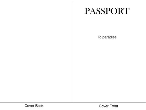 Passport Templates For Teachers by 6 Best Images Of Passport Cover Template Printable