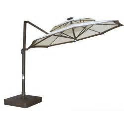 Southern Patio Umbrella Replacement Parts Freedom Butterfly Offset Solar Umbrella 11 Ft Sam S Club