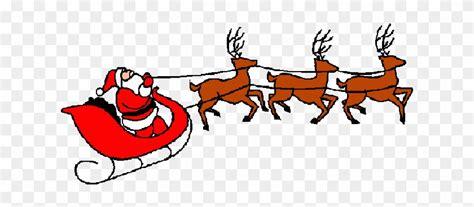Free Reindeer Clip Art Image - Santa On Sleigh Clipart ... Free Clip Art Santa And Reindeer