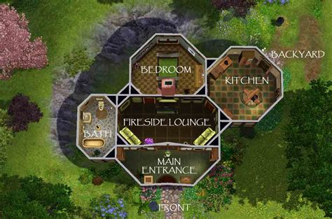 Free Floor Plans For Houses by Mod The Sims Lotr Buckland Hobbit Home