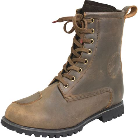 brown leather motorcycle boots armr moto retoro leather motorcycle boots arrivals
