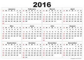Free Downloadable 2015 Calendar Template by 2016 Calendar