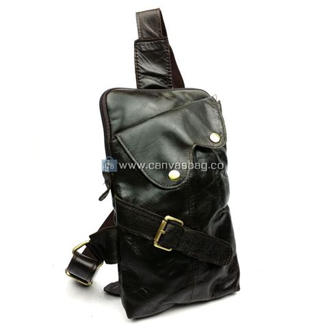 Stradi Black Sling Bag black leather sling bag canvas bag leather bag canvasbag co