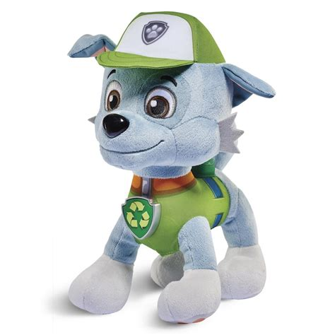 what of is rocky from paw patrol spin master paw patrol paw patrol real talking rocky plush