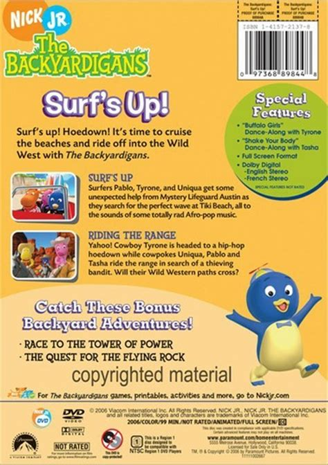 Backyardigans Surf S Up Dvd Backyardigans The Surf S Up Dvd 2006 Dvd Empire