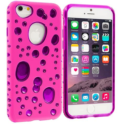 Kp1595 Iphone 6 6s Colorful Baby Pink Tempered Gla Kode Tyr1651 pink purple hybrid bubbles tpu cover for