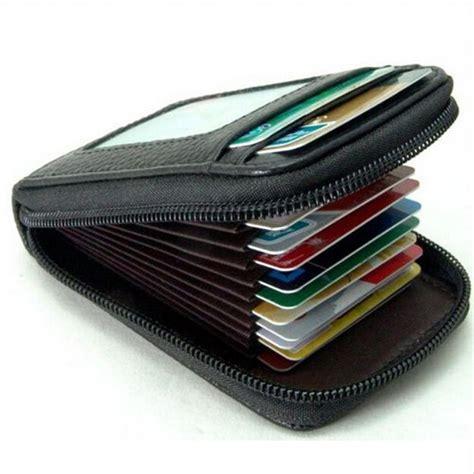 jual termurah dompet kulit penyimpanan kartu travel multifungsi atm kredit card credit pria