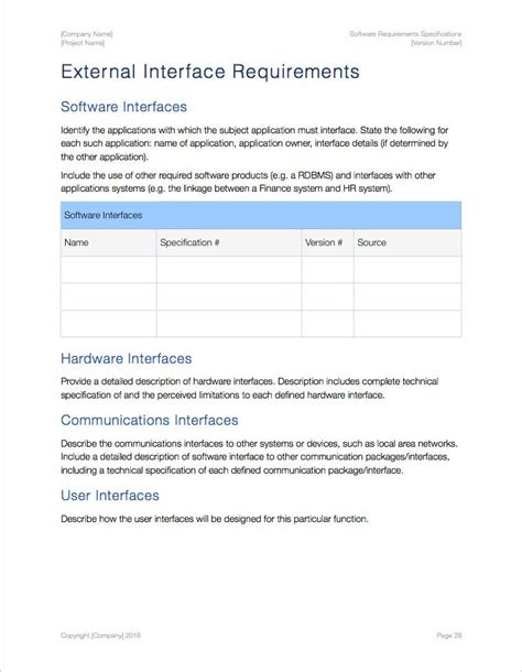 software requirements specification template apple iwork