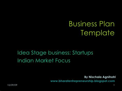 business plan template blog