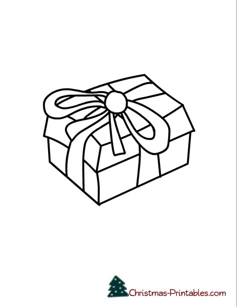 coloring pages of a christmas present free printable christmas coloring pages
