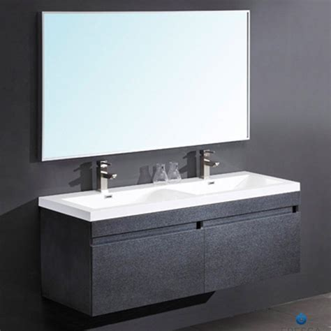 Black Modern Bathroom Vanity Fresca Largo Black Modern Bathroom Vanity Two Finishes Gray Oak And Teak