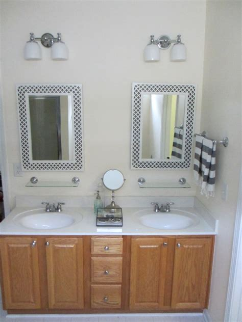 Bathroom Vanity Painting Before And After by Painted Bathroom Vanity Before And After Two Delighted