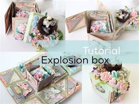 Explosion Box Tutorial Start To Finish | super easy tutorial explosion box start to finish how
