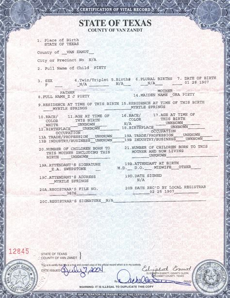 South Carolina Vital Records Birth Certificate Sle Image Of Birth Records Pictures To Pin On
