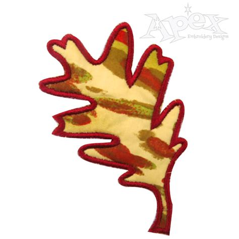 leaf applique oak leaf applique embroidery design