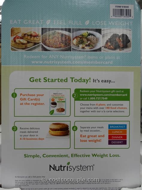 Nutrisystem Gift Card Deals - nutrisystem gift cards walgreens how long does nutrisystem food keep