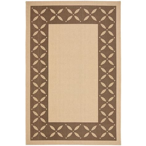martha stewart living rugs martha stewart living mallorca border chocolate 5 ft 3 in x 7 ft 7 in area rug msr4257