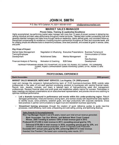 marketing resume sles 36 manager resumes in word