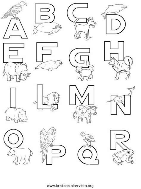 lettere disegni lettere dell alfabeto da colorare kristoon