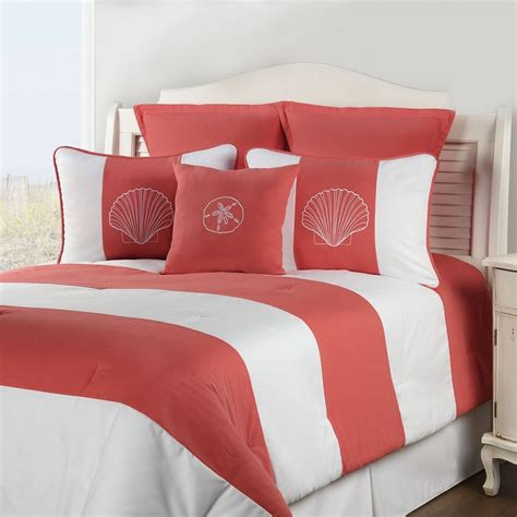 coral bedding shell island coral comforter sets by victor mill free