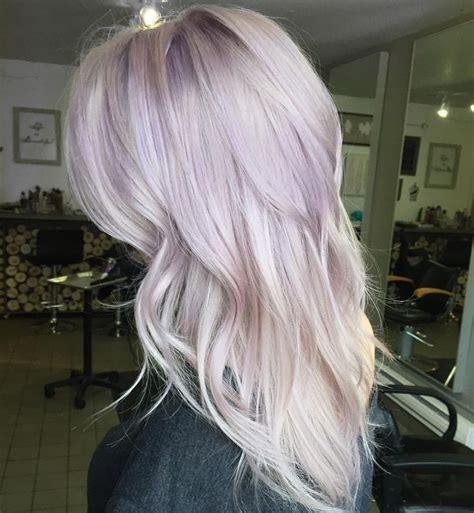 purple highlights in platinum blonde hair 25 best ideas about purple blonde hair on pinterest