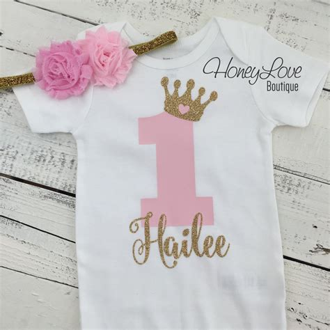 personalized set gold glitter shirt bodysuit by personalized 1st birthday princess gold glitter
