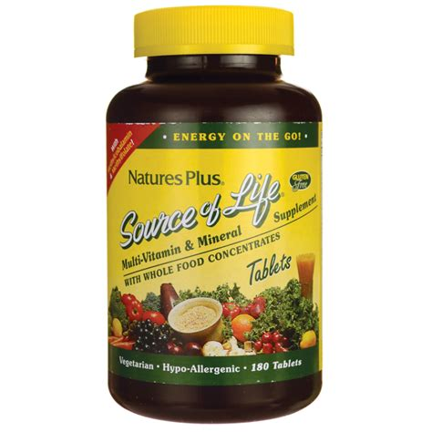 Natures Plus Source Of 45 nature s plus source of multi vitamin mineral 180 tabs swanson health products