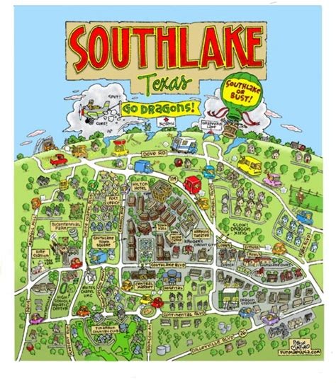 map of southlake texas maps usa