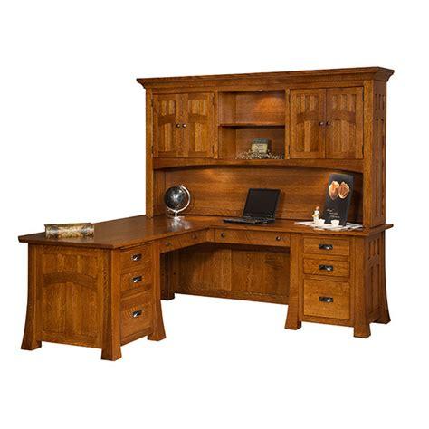 Amish Corner Desk Bridgefort Mission Corner Desk 74x88 Shipshewana Furniture Co