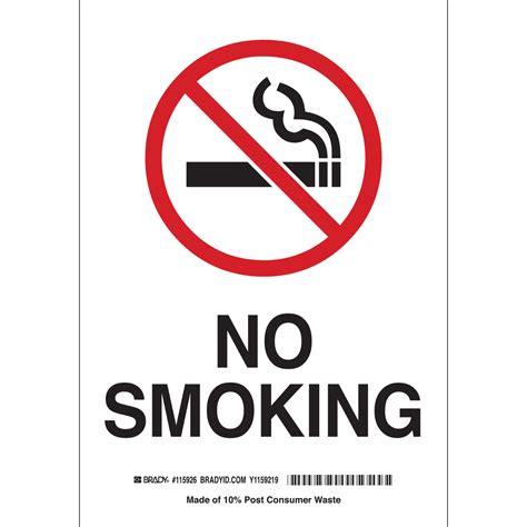 no smoking sign large brady part 116091 no smoking sign bradyid com