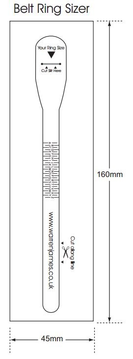 ring size ruler printable uk find your ring size