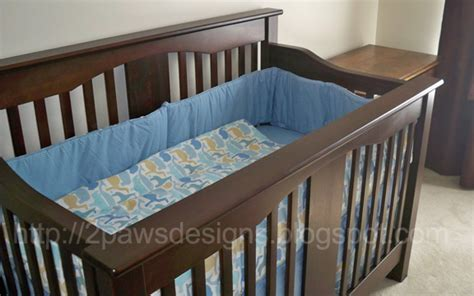When To Put Bumpers Back In Crib by Diy Crib Teething Rail Cover 2paws Designs