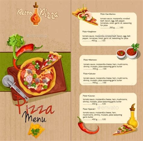 pizza template for a card pizza menu templates 31 free psd eps documents