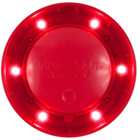 colored light five push button locker colored light