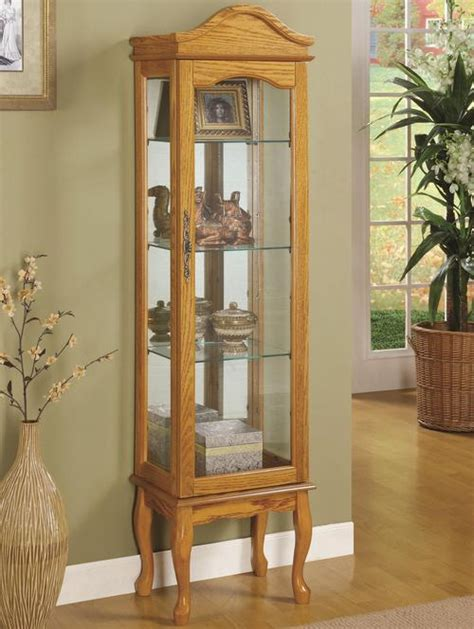 coaster curio cabinets 4 shelf wood curio cabinet with