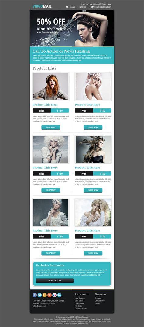marketing newsletter templates virgomail email marketing newsletter template by