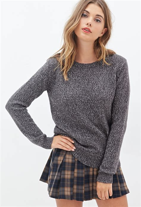 Forever21 Soft Knit T3010 3 forever 21 metallic knit sweater in gray lyst