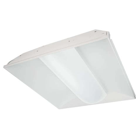 Tcp Lighting Fixtures Tcp 26844 2 X 2 35 Watt 120 277 Volt T8 4100k Non Dimming Led Troffer Fixture With
