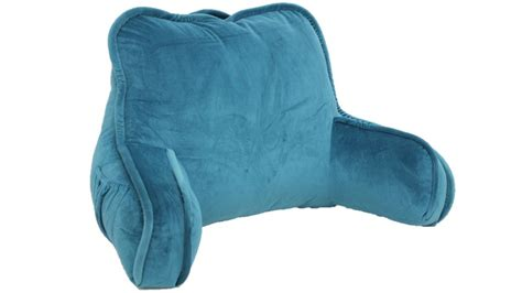 bed rest reading pillow arms plush polyester fabric  support bed lounge soft ebay